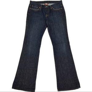Lucky Brand Dark Wash Whiskered Bootcut Jean